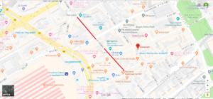 モーゼル通りの地図