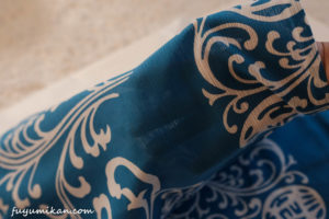 竺仙浴衣の綿絽