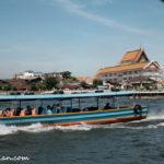 チャオプラヤー川のボート